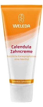 WELEDA Calendula Zahncreme, Naturkosmetik Zahnpasta zur Vorbeugung von Karies mit mineralischen Putzkörpern, entfernt Zahnbelag, reinigt und pflegt die Zähne gründlich und sanft (1 x 75ml)