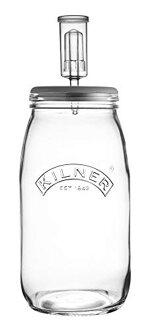 KILNER Create & Make Fermentierset - für das einfache Haltbarmachen von Gemüse, im 3 Liter Glas mit Gärungsdeckel
