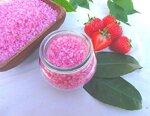 Badesalz Erdbeer-Sahne im Schmuck WECK-Glas, ohne Palmöl, von kleine Auszeit Manufaktur