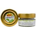 Birkengold Zahnpulver Minze 30 g Glas | 1 Stück | Plastikfrei | Im Glastiegel Verpackt | 100% Natürliche Zutaten | Keine Schaumbildner Und Konservierungsstoffe