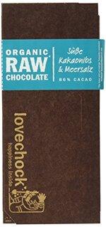 lovechock Süße Kakaonibs und Meersalz, 4er Pack (4 x 70 g)
