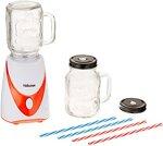 Tristar BL-4456 Mixer 'Mason Jar' -Mit 2 Glas-Kannen-4 farbige Strohhalme, Ja