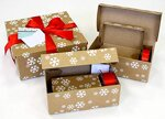 Geschenkkartons Geschenkboxen - praktische Alternative zu Geschenkpapier - 5 unterschiedlich große Geschenkverpackungen mit Geschenkband & Grußkärtchen - 17 teiliges Geschenk-Set
