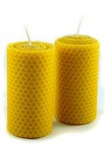Naturra 2 100% Bienenwachs Kerzen in Handarbeit handgerollt Wabenmuster aus deutschem Imkerwachs