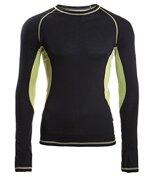 Engel-Sports Herren Shirt - langarm black/lime XL