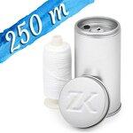 Zahnseidenkampagne Flauschige Expanding Premium Zahnseide gewachst, weiß (250 m Spule + Spender)