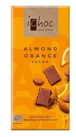 Ichoc Almond Orange, vegane Schokolade, BIO