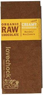 Lovechock Organic Raw Chocolate, Maulbeere, 4er Pack (4 x 70 g)