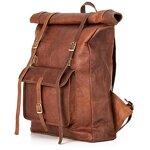 Rucksack Berliner Bags Leeds XL aus Leder Kurierrucksack Fahrradrucksack Schulrucksack Laptop Schule Damen Herren Vintage