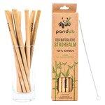 pandoo 12er-Pack Strohhalme aus 100% Bambus inklusive Reinigungsbürste | Wiederverwendbare & umweltfreundliche Trinkhalme | 100% biologisch abbaubar