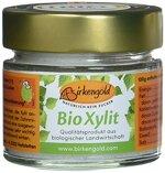 Birkengold Bio Xylit 140 g Glas, 2er Pack | aus biologischer Landwirtschaft | 40 % weniger Kalorien | zahnfreundlich | ideal zum Kochen und Backen | glykämischer Index von 11