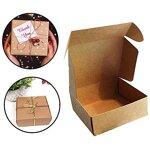 Kraft Geschenkboxen (10 Stück) - 13x12x5cm Braune Kraftpapier Faltschachtel Geeignet für Kekse, Hochzeit und Party Geschenke