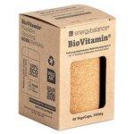 EnergyBalance BioVitamin® Kapseln zum Nachfüllen - 100% Nahrungsäquivalent - Vitamine und Mineralien - Vegan, Natürlich, Plastikfrei, Nachhaltig - 60 VegeCaps à 500 mg