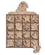 48 Weihnachtsbaum- Anhänger, Tannenbaumanhänger, Christbaumschmuck aus Holz (8 verschiedene Designs)