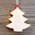 Choralis Wood Art Holzbaum, Holz, 6x6