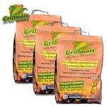 Grillmais 3X 3 Kg Maiskohle 100% Natur 100% nachhaltig Bio Grillen bis 800C°