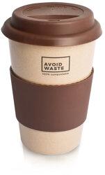 Avoidwaste - Avoidwaste Kaffeebecher to go aus Reishülsen, 400ml (5 Farben)