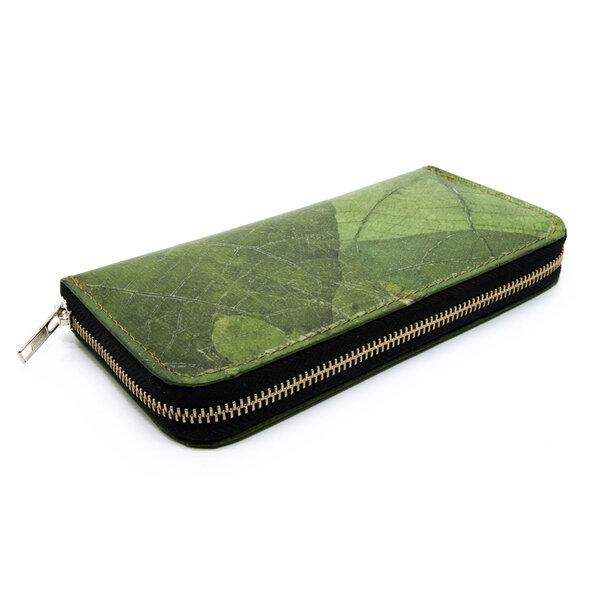 ECOMONKEY - ECOMONKEY® Geldbörse Damen - veganes Lederimitat aus Blättern