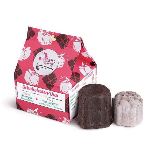 Lamazuna - Schokoladen Duo Geschenk-Set – festes Shampoo & feste Kakaobutter
