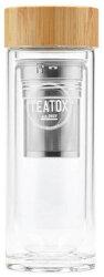 TEATOX - Tea to go Thermosflasche aus Glas