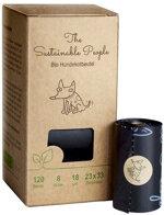 The Sustainable People - Biologisch abbaubare Hundekotbeutel ohne Henkel, 8 x 15 Stück