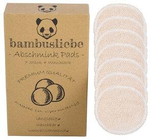 bambusliebe - 7 Waschbare Abschminkpads aus Bambusviskose inkl. Waschsack - Made in Germany -