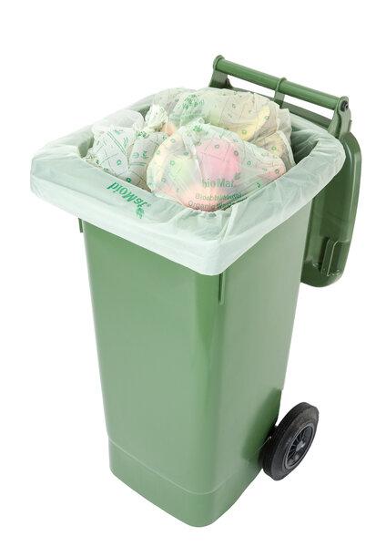 bioMat - 40-60 Lt. BIOMAT® kompostierbare Abfallsäcke