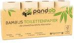 pandoo - Pandoo Bambus Toilettenpapier - 8 Rollen á 200 Blatt - 3-lagig
