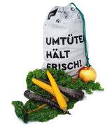 umtüten - Markt-Tüüt - Mehrwegbeutel mit pflanzlichem Frische-Inlay für Gemüse