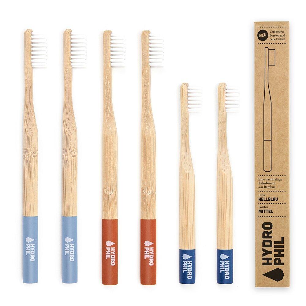 Family Pack Bambus-Zahnbürsten