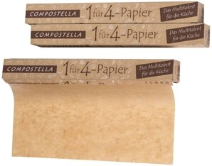 Compostella 1 für 4 Papier: Einschlagpapier Rolle - kompostierbar