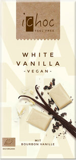 Weiße Schokolade vegan - iChoc White Vanilla - geniessen