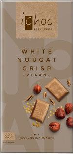iChoc White Nougat Crisp - Vegan Schokolade mit Krokant