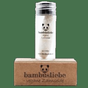 Bambusliebe vegane Zahnseide aus Maisseide gewachst mit Candelillawachs