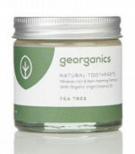 Georganics mineralhaltige Zahnpasta im Glas mit Teebaumöl
