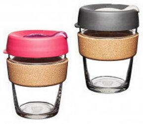 KeepCup Kaffeebecher Brew Cork Edition Glas Medium
