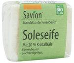 Savion Körperseife SOLE mit Kristallsalz, 85 g | Waschbär