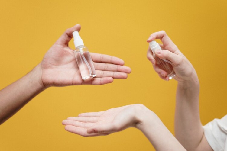 Desinfektionsmittel ohne Plastik